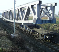 Transport of 95 tons bridge steel construction to Brod nad Tichou by own bolster wagon.